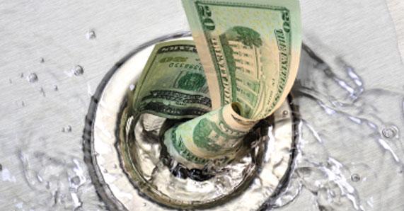 money-down-the-drain